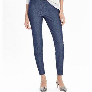 Banana Republic Sloan Navy Textured Slim Pants 6